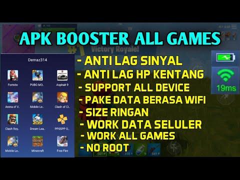 Apk Booster Untuk Semua Game ML-Dll, Untuk Anti Lag Sinyal + Anti Lag Device, Menstabilkan Jaringan