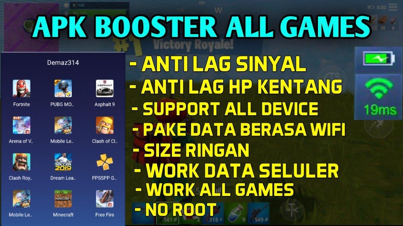 Apk Booster Untuk Semua Game ML-Dll, Untuk Anti Lag Sinyal + Anti Lag Device, Menstabilkan Jaringan  #Smartphone #Android