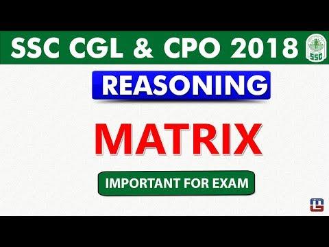 Matrix | SSC CGL 2018 | CPO 2018  | Reasoning | Live at 5 pm