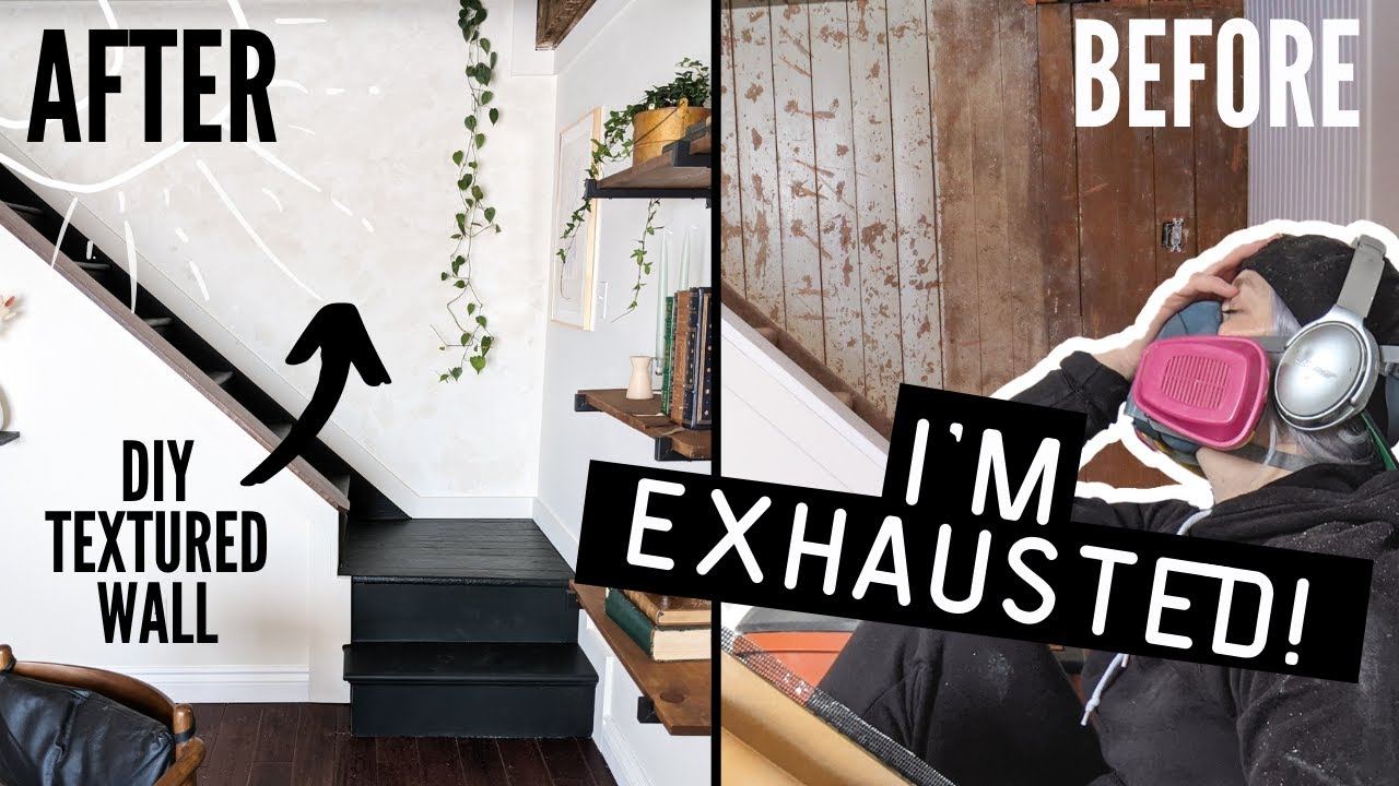 *BIG REVEAL* my ugly farmhouse stairway gets a massive transformation! | HOME MADE HOME
