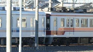 【東武6050系 6155F+8000系 8506Fで連結したまま1か月経過】本日 6155F+8506Fで場所を移動し留置。