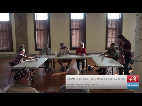 Atlanta Public Library District Special Meeting August 24, 2017