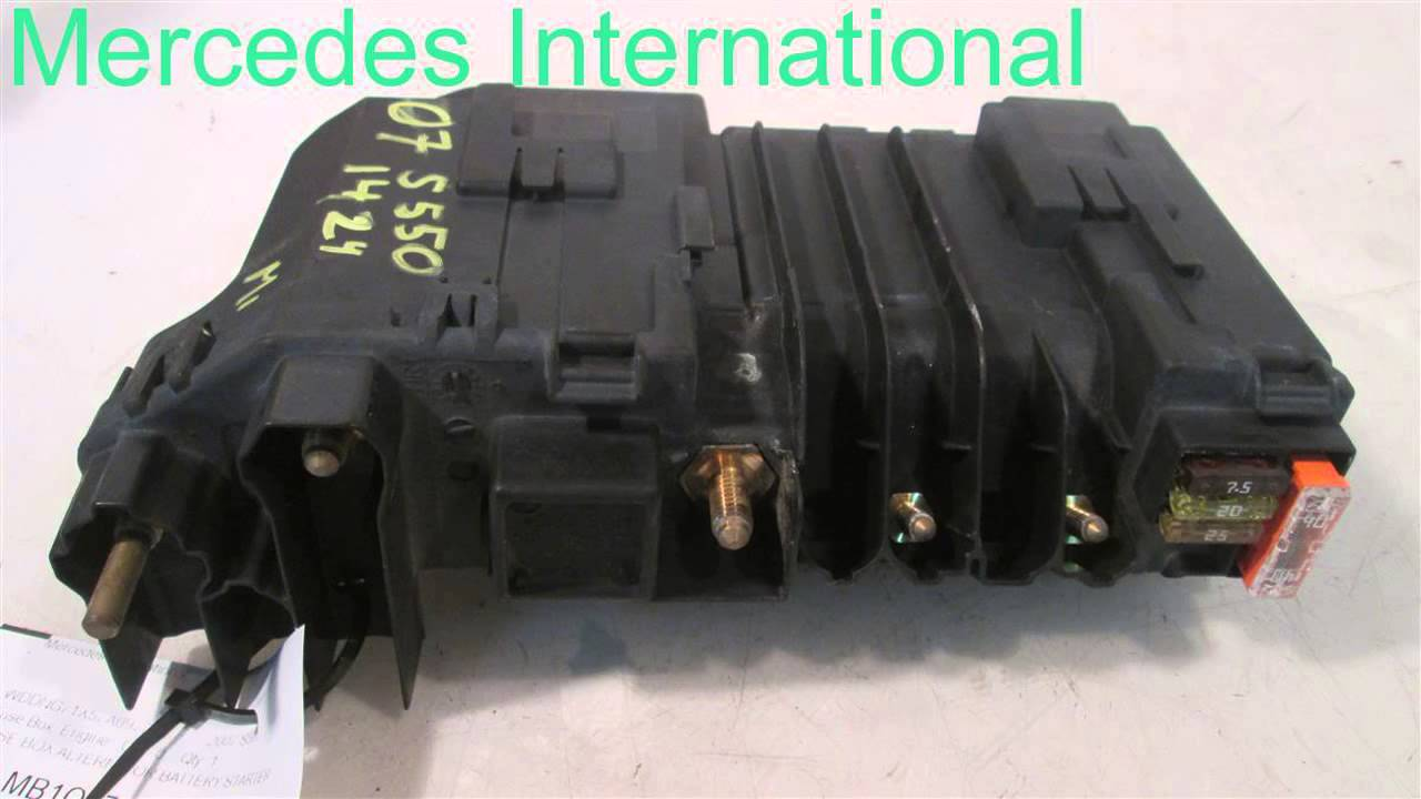 2007 mercedes s550 fuse box 2215401250 mbiparts com used oem s550 2007 fuse box location [ 1280 x 720 Pixel ]