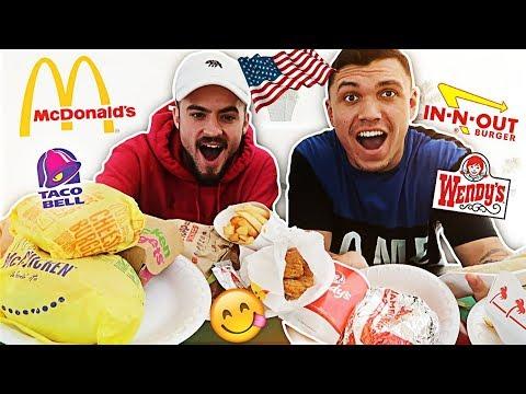 AMERICAN FAST FOOD TASTE TEST CHALLENGE!!