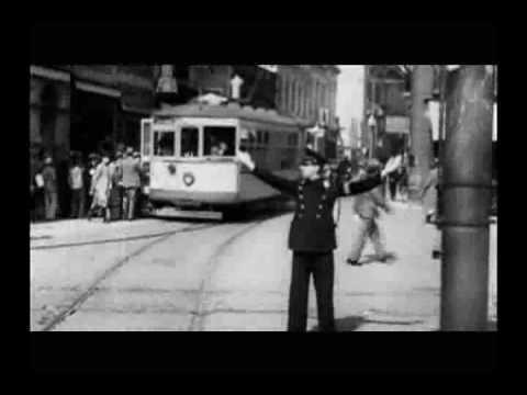 Porto Alegre Centro Praças Bondes Veículos Ruas década 1930 1940