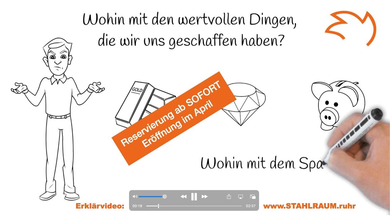 STAHLRAUM - Erklärvideo - Wir vermieten 1.400 Schließfächer - VIDEO auf YouTube