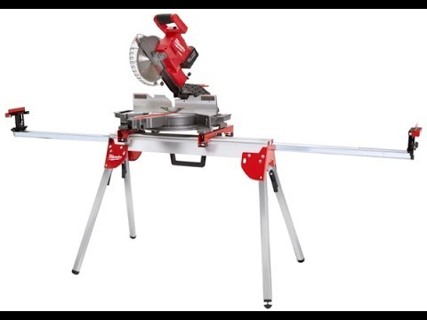 Milwaukee 7 1 4 M18 Fuel Cordless Miter Saw And Stand