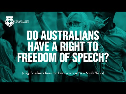 Do Australians have a right to freedom of speech?