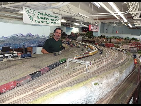 Large Model Railroad RR HO H.O. Scale Gauge Train Layout @ Chicago Park District awesome trains