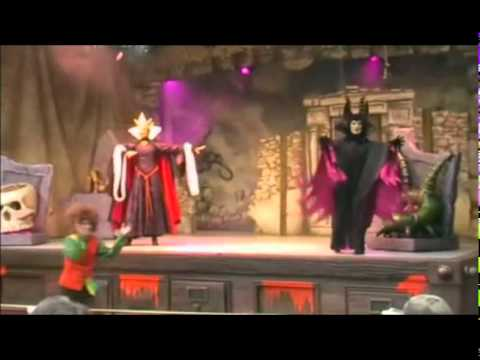 Vidéo Maléfique, Disney Witches Dancing Spells Party, m.e.s Emmanuel Lenormand, DisneyLand Paris 2009