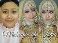 Makeup ala pengantin India by Ayyunazzuyyin