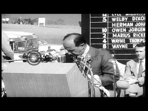 Presidential candidate Adlai Stevenson delivers campaign speech at the State Fair...HD Stock Footage