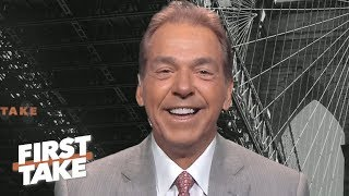 Nick Saban talks Tua, infamous press conference rants, former players turned pro | First Take