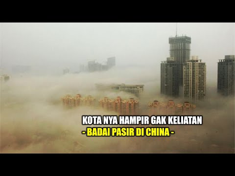 Detik-detik Badai pasir kacaukan kota Dunhuang, kawasan barat laut China