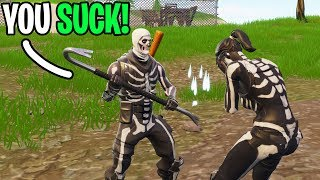I met the MOST TOXIC 10 Year old on Fortnite! (He Invited his SISTER & Roasted Her!)