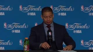 Tyronn Lue Postgame Interview - Game 5 | Cavaliers vs Warriors | June 12, 2017 | 2017 NBA Finals