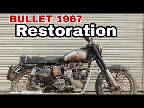 OLD MODEL  Bullet 1967 Restoration  Royal Enfield modification  Bullet Tower sikar #vintagebullet