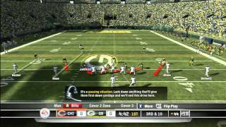 CGRgameplay - MADDEN NFL 11 (XBOX 360) Packers Vs. Bears Gameplay Part 1