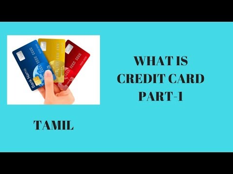 what is credit card   part-1   tamil