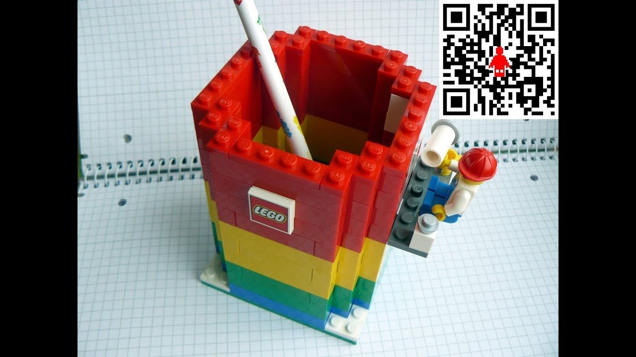 How To Build A Pencil Holder With Lego Bricks Under 2min