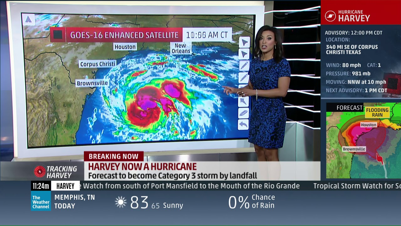 Meteorologist liana brackett hurricane harvey storm surge threat youtube for Brackett watches