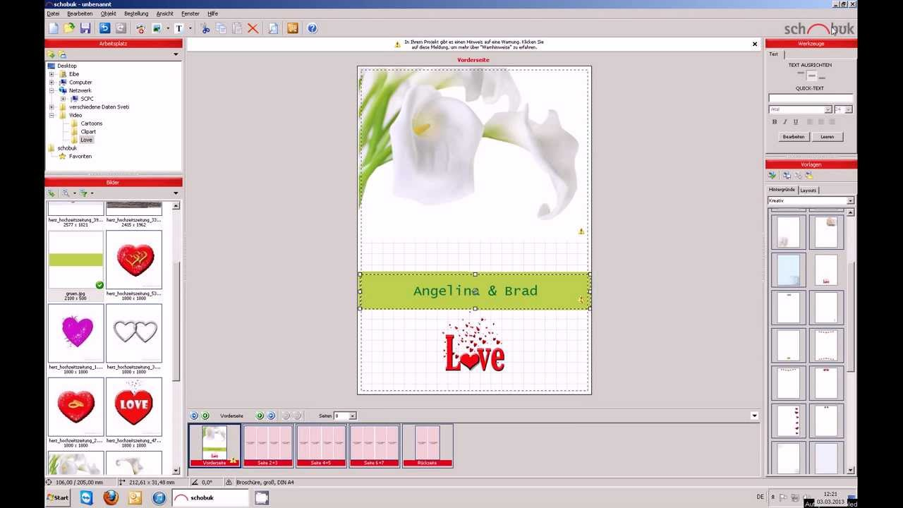 Célèbre Créer des livrets de mariage avec un logiciel gratuit. - YouTube RG69