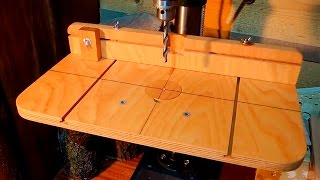 Woodshop Tour 08 DIY Drill Press Table