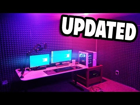 UPDATED AWESOME GAMING SETUP AND RECORDING STUDIO