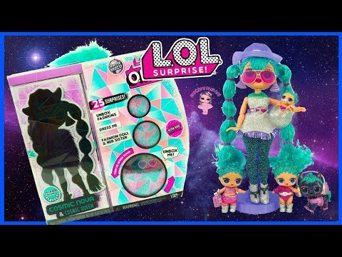 LOL Surprise Winter Disco OMG Doll Cosmic Nova and Cosmic Queen Unboxing Kids Surprise Toys