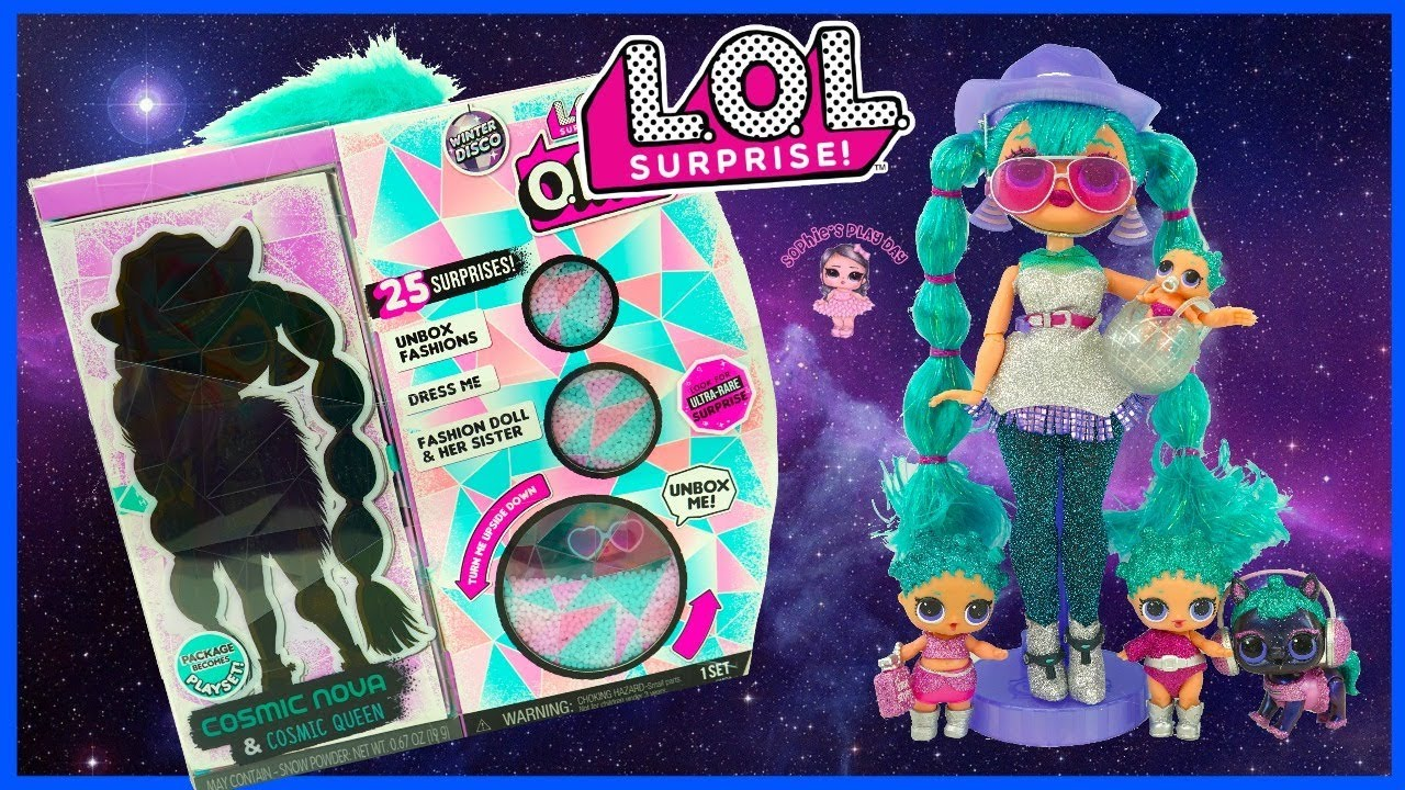 L.O.L O.M.G Stylish Winter Disco Cosmic Nova Fashion Doll /& Sister Surprise