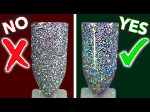 Glitter You've Been Doing Wrong! How to Apply Loose Glitter Nails Design