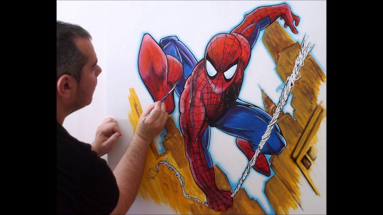 Dibujos Artisticos Spiderman,Minecraft,Hannya... - YouTube