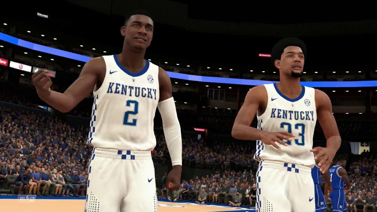 NBA 2k19 Collge Hoops 2k19 Duke vs Kentucky Rosters Updated For 2018 2019  Season
