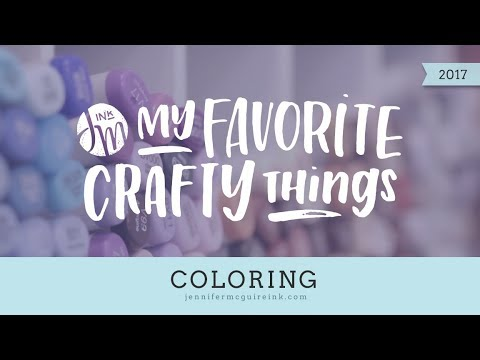 My Favorite Crafty Things -- Coloring