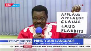 Mind Your Language: 'applaud', 'Applause' 'clause' Test your pronunciatation with word master Willis