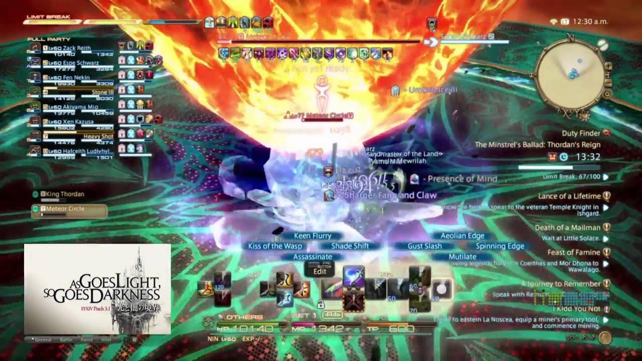 c227247eca81df Final Fantasy XIV - Thordan EXTREME (NIN PoV) - First time clear P9+ [PS4]