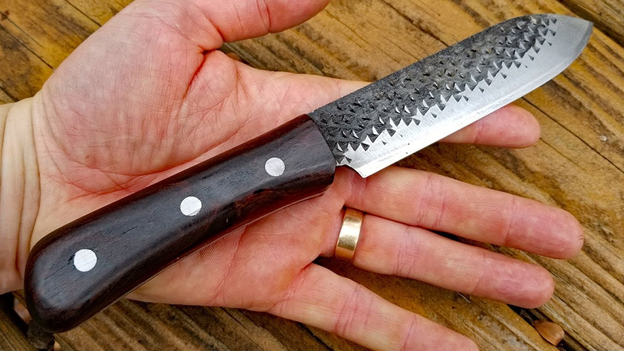 making a knife from rasp knife making for beginners youtube
