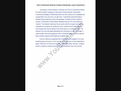 Continental lite airline case study