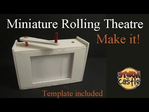 Make a Miniature Rolling Paper Theatre -storytelling project