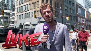 Peinlich! Luke spielt schlechten Reporter