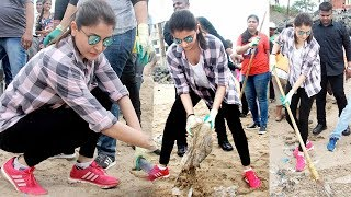 Anushka Sharma Cleans Versova Beach On PM Modi