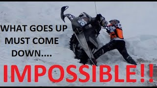 AN IMPOSSIBLE SNOWMOBILE HILL CLIMB! | JUST SNOWMOBILES