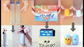 3 Geri Dönüşüm Projesi! | El Yapımı Kawaii Eşyaları! | DIY Kawaii School Supplies From Old Things
