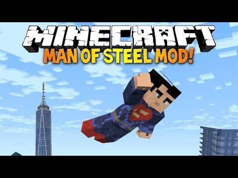 Обзор модов Minecraft #15 SuperMan Mod - Будь Супермэном !