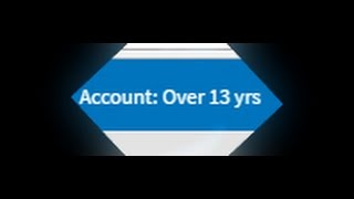"""Roblox: What """"Account: Over 13 yrs"""" means"""