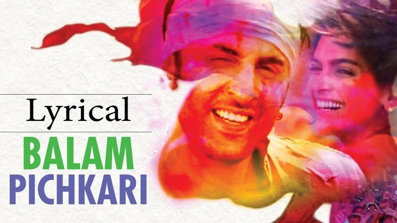 Balam Pichkari Full Song With Lyrics Yeh Jawaani Hai ...
