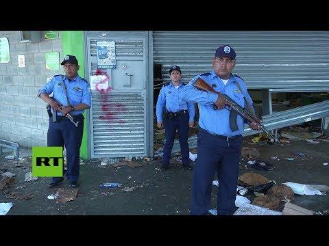 Saqueos de tiendas en medio de las violentas protestas en Nicaragua