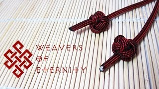 How To Tie a Celtic Button Knot (Single Strand Diamond Knot) Tutorial