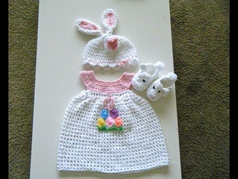 Crochet Baby dress set for Easter