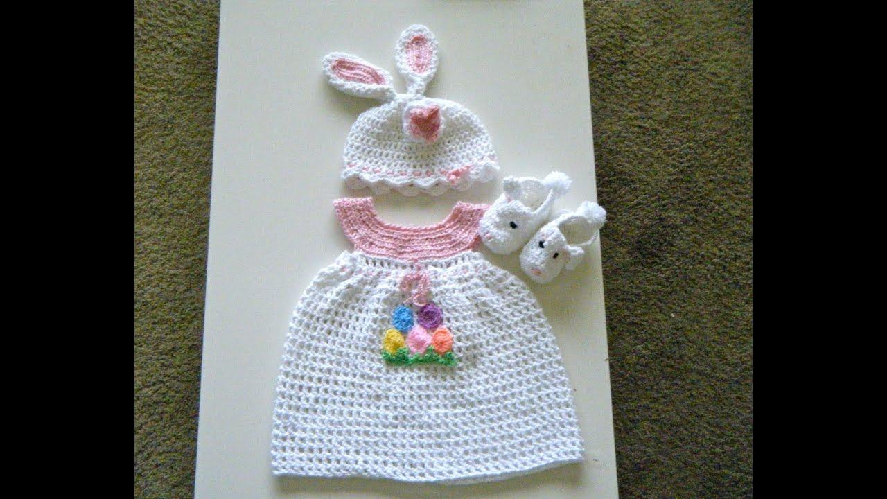 Crochet Baby Dress Set For Easter Youtube